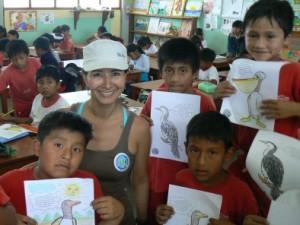 Joanna with school children ©ProDelphinus