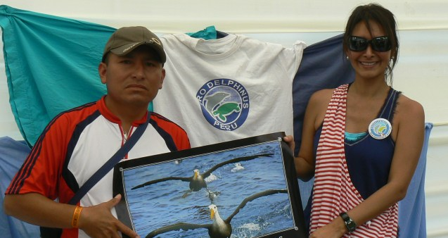 Working with fishermen to conserve waved albatross ©ProDelphinus